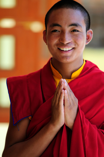 Tibetan student monks, Jonangpa School  in Kathmandu, Nepal.